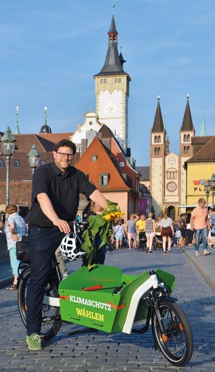 Martin Heilig mit Lastenrad
